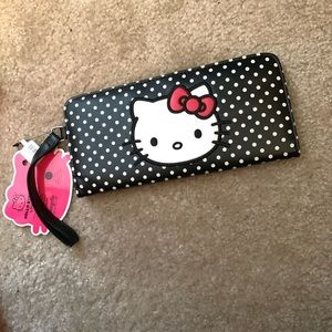Hello kitty wallet card holder clutch wristlet